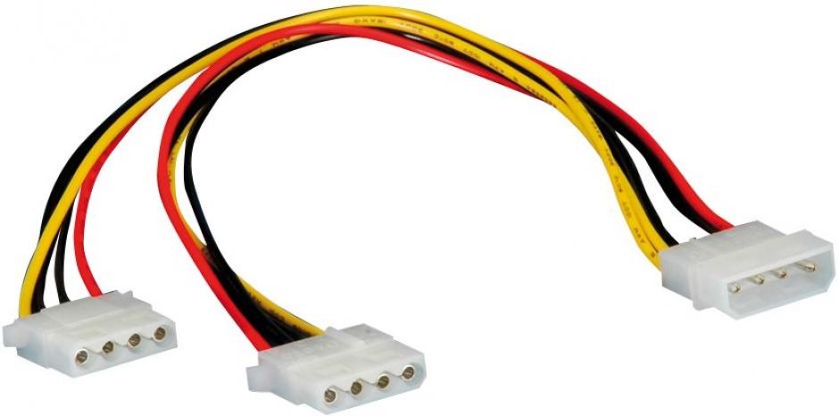Imagine Cablu de alimentare Molex la 2 x Molex 0.3m, Roline 11.03.1005