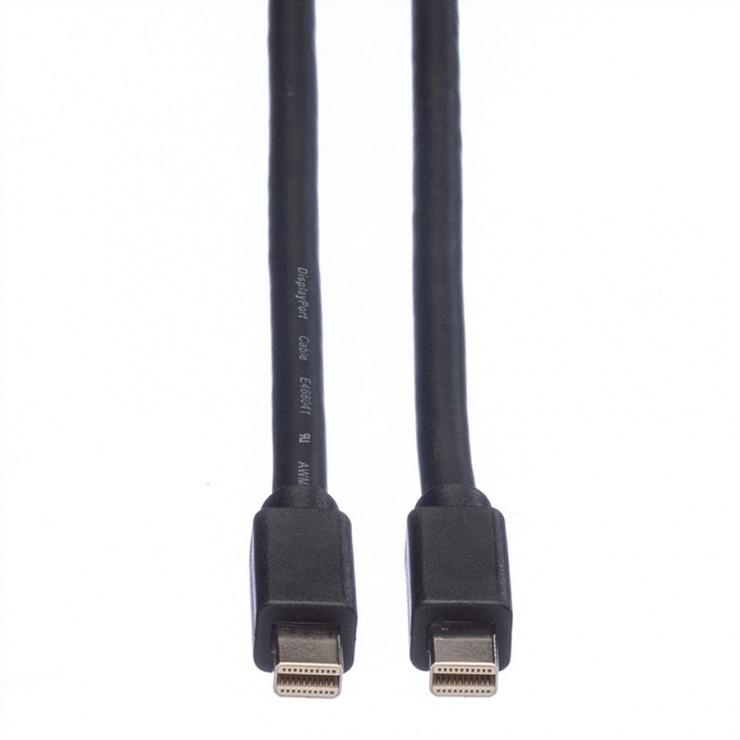 Imagine Cablu Mini Displayport la Mini Displayport T-T 3m Negru, Roline 11.04.5641-2