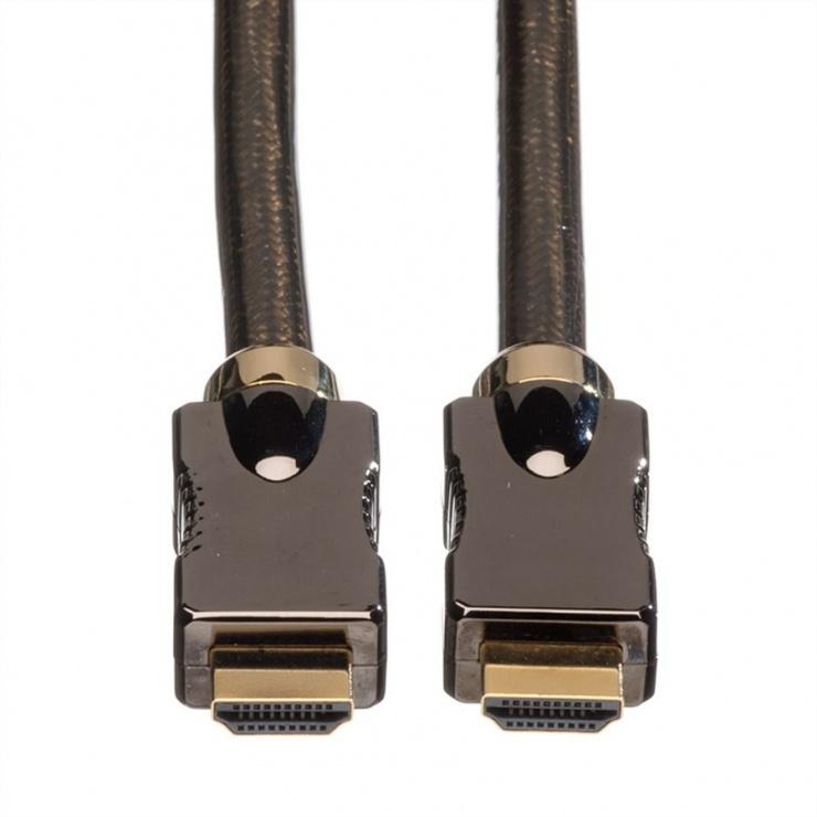 Imagine Cablu HDMI Ultra HD 4K cu Ethernet v2.0 T-T 2m, Roline 11.04.5681-3