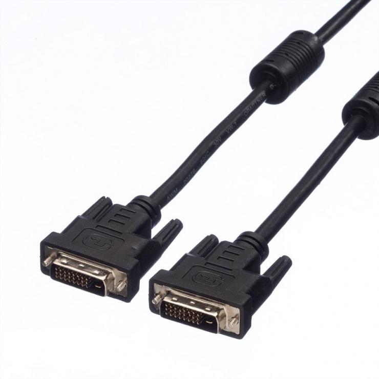 Imagine Cablu DVI-D Dual Link 24+1pini T-T 1m, Value 11.99.5521