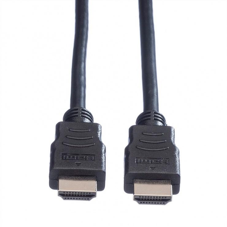 Imagine Cablu HDMI cu Ethernet v1.4 T-T 10m Negru, Roline 11.04.5547 -1