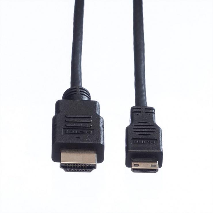 Imagine Cablu HDMI la mini HDMI-C v1.4 T-T 0.8m, Roline 11.04.5568-1