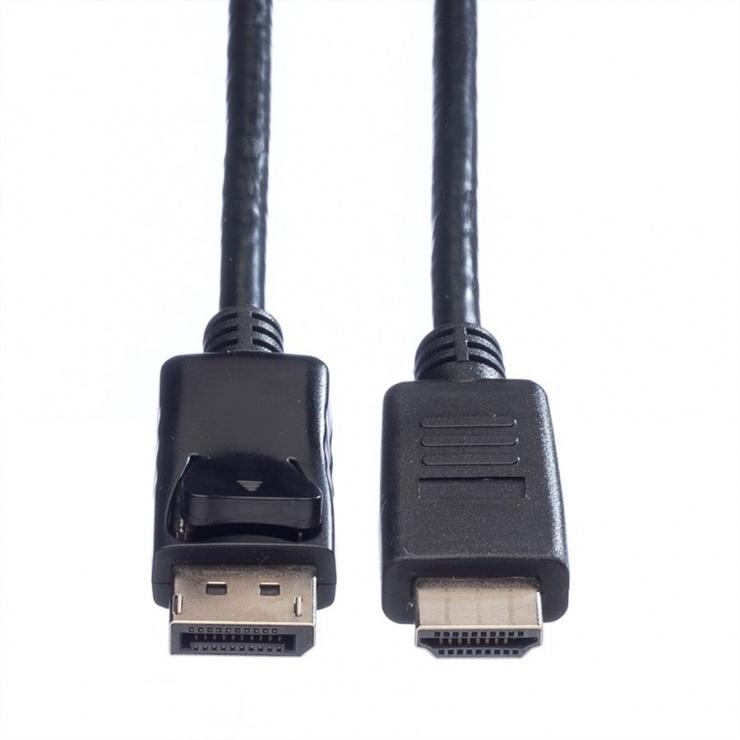 Imagine Cablu Displayport la HDMI Full HD T-T 2m Negru, Value 11.99.5781-1