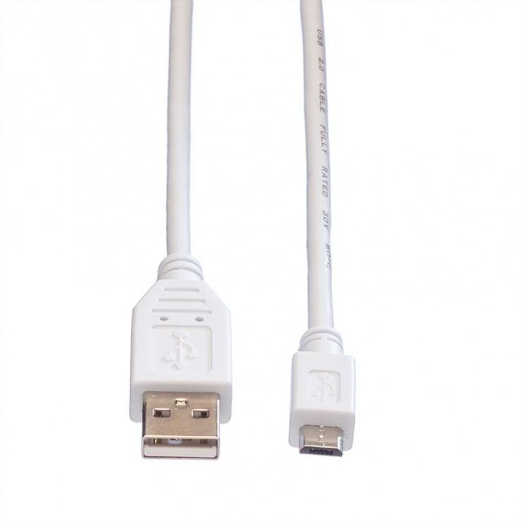 Imagine Cablu USB 2.0 A la micro USB B 3m, Value 11.99.8755-1