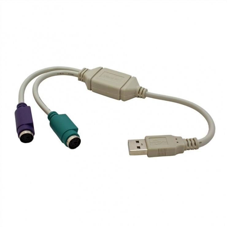 Imagine Adaptor USB la 2 X PS/2, Value 12.99.1075-1