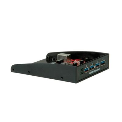 """Imagine Front panel pentru bay 3.5"""" cu 4 x USB 3.0, Roline 14.02.5009-3"""