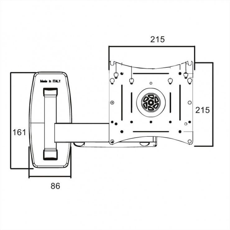 "Imagine Suport monitor LCD 10""- 40"" perete 3 brate, Roline 17.03.0007"