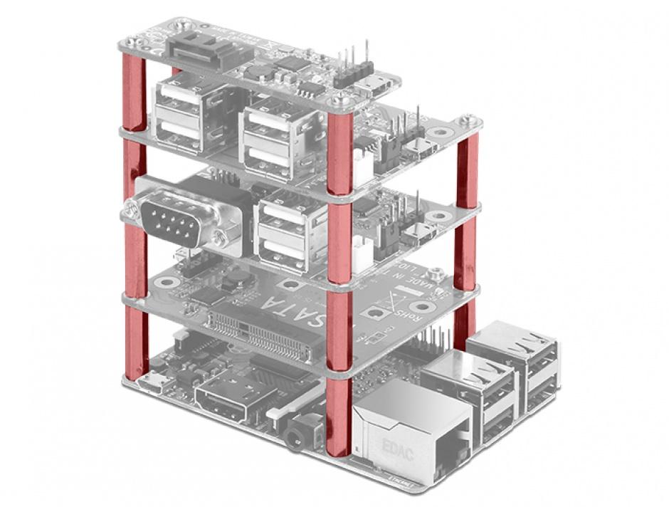 Imagine Kit de montare pentru Raspberry Pi 20mm, Delock 18211