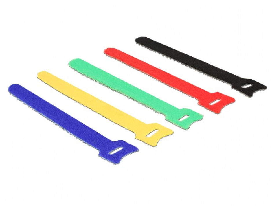 Imagine Curele pentru prindere cabluri colorate 150 x 12 mm 10buc, Delock 18634