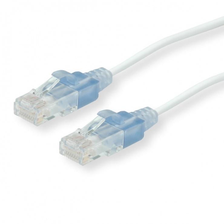 Imagine Cablu retea UTP Cat.6 slim Alb 2m, Roline 21.15.0962