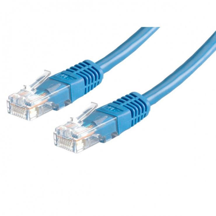 Imagine Cablu retea UTP Cat.6, albastru, 3m, Value 21.99.1554