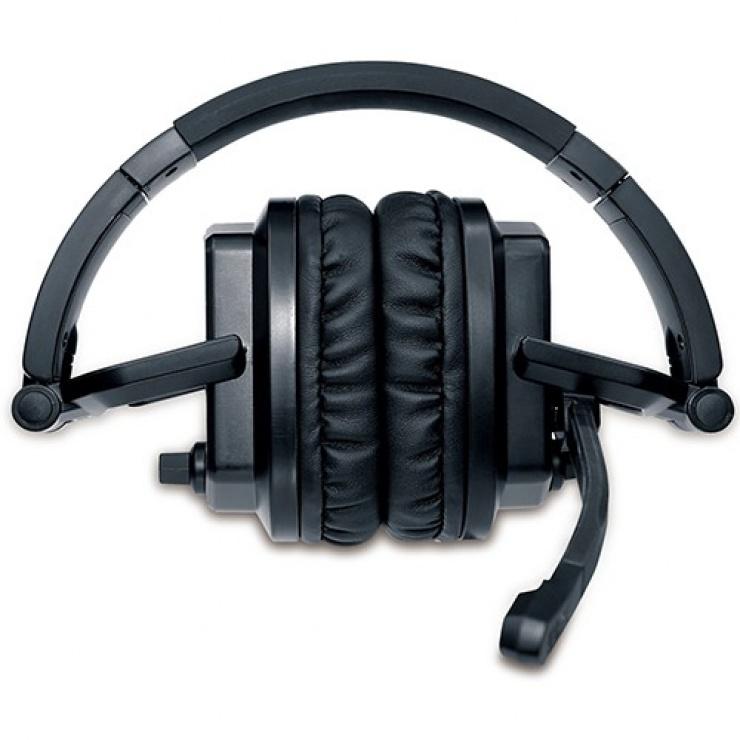 Imagine Casti gaming cu microfon Lychas HS-G550 design pliabil, Genius