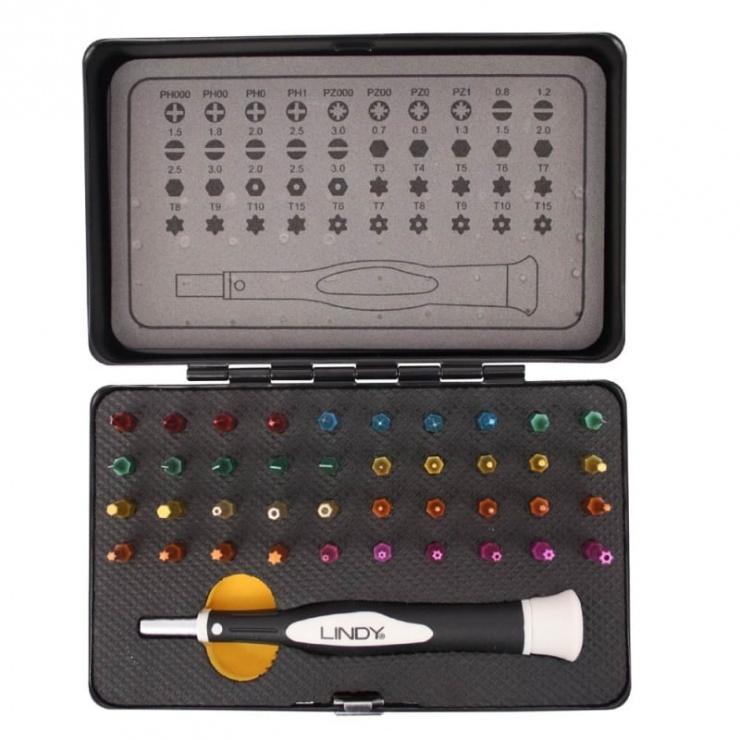 Imagine Trusa precizie 40 piese colorate Screwdriver & Torx Set, Lindy L43035