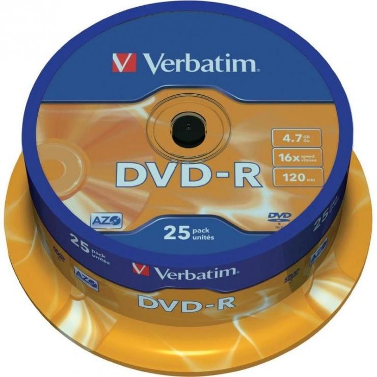 Imagine DVD-R Verbatim Matt Silver SL 16X 4.7GB 25 buc