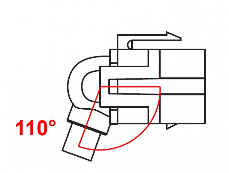 Imagine Modul Keystone mini Displayport M-T 110 grade cu cablu, Delock 86374
