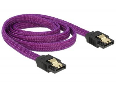 Imagine Cablu SATA III 6 Gb/s 100cm drept Premium, Delock 83692-1