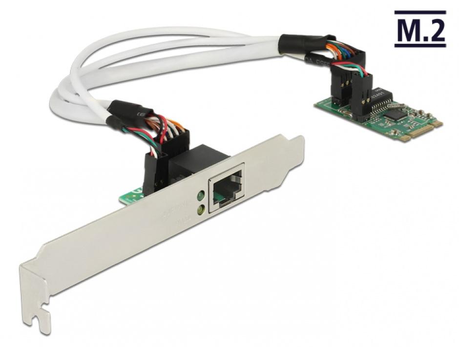 Imagine Convertor M.2 Key B+M male la 1 x Gigabit LAN Low Profile Form Factor, Delock 62851