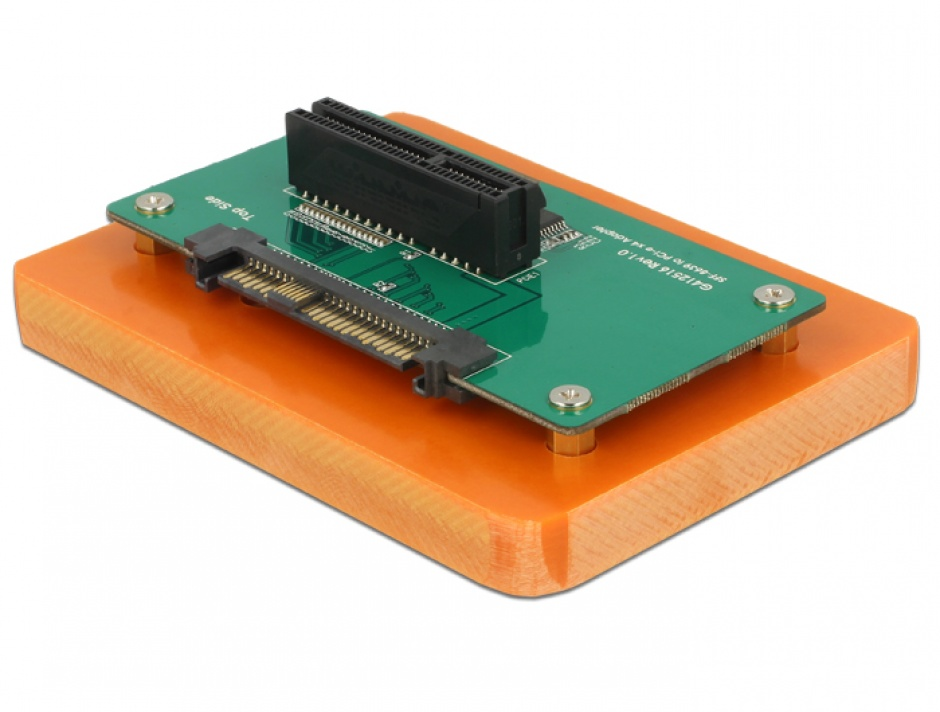 Imagine Adaptor U.2 SFF-8639 la PCIe x4 cu fixare, Delock 62863-1