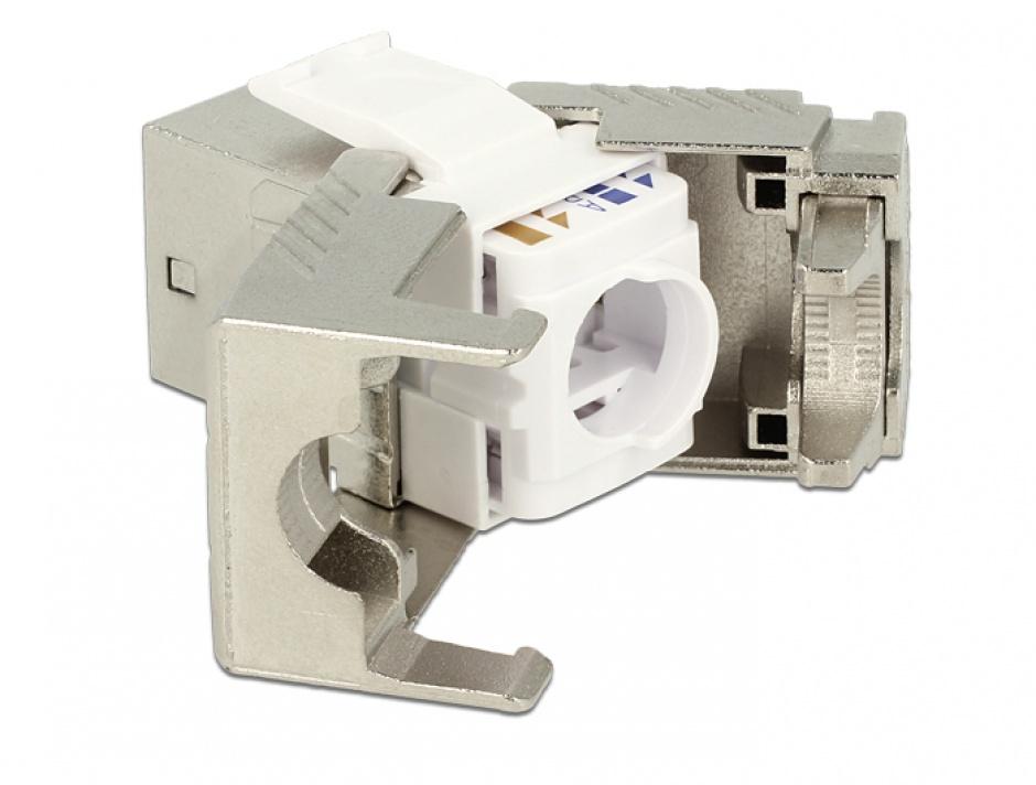 Imagine Modul keystone RJ45 jack Cat.6A toolfree, Delock 86288