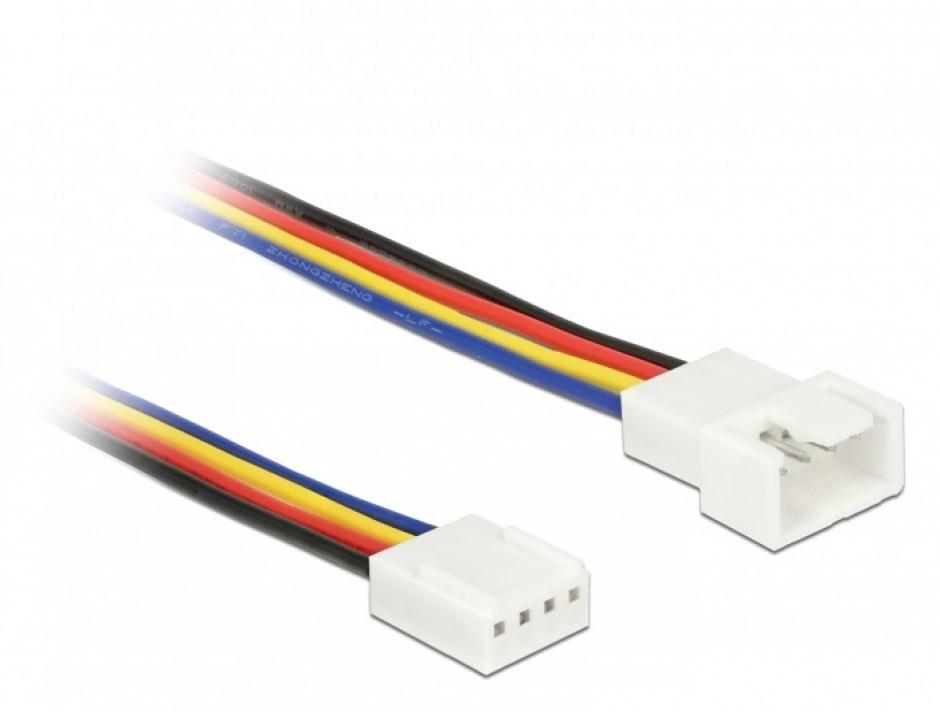 Imagine Cablu prelungitor alimentare ventilator PWM 4 pini T-M 30cm, Delock 85361