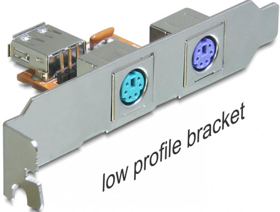 Imagine Rear bracket USB la 2 x PS/2, Delock 61589-3