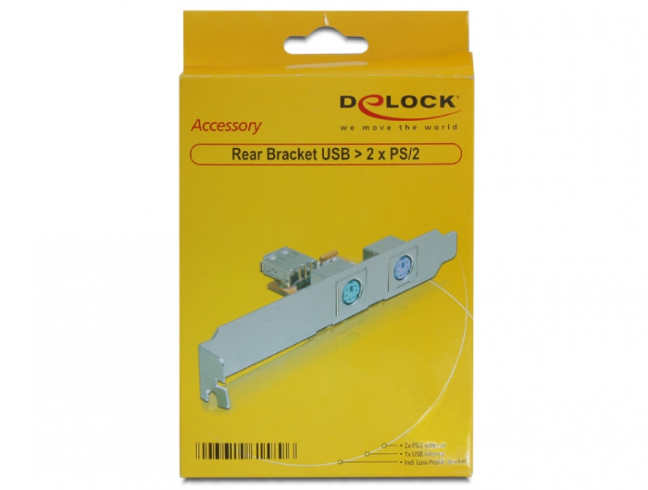 Imagine Rear bracket USB la 2 x PS/2, Delock 61589-5