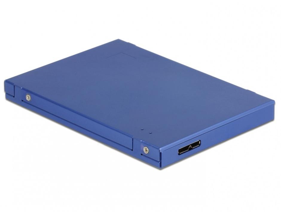 """Imagine Adaptor micro USB-B 3.1 la M.2 SSD key B / mSATA cu rack extern 2.5"""", Delock 62731"""