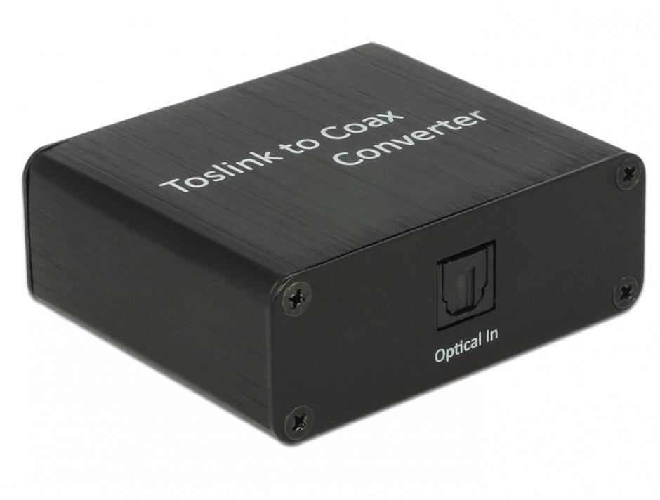Imagine Convertor Digital Audio TOSLINK la Coaxial, Delock 62789-1