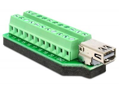 Imagine Adaptor Mini Displayport mama la bloc terminal 22 pini, Delock 65394