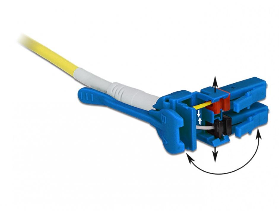 Imagine Cablu fibra optica LC - LC Singlemode OS2 Uniboot 2m, Delock 85084