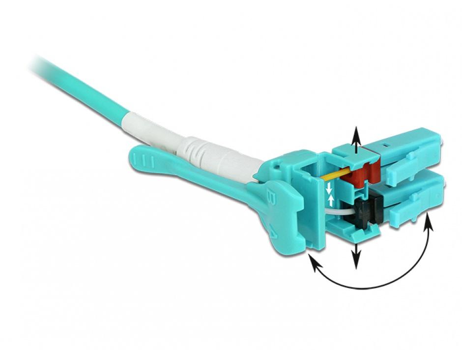 Imagine Cablu fibra optica LC - LC Multimode OM3 Uniboot 5m, Delock 85130