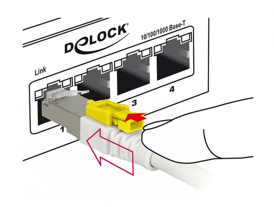 Imagine Cablu de retea RJ45 cat 6A cu sistem de blocare 5m, Delock 85335