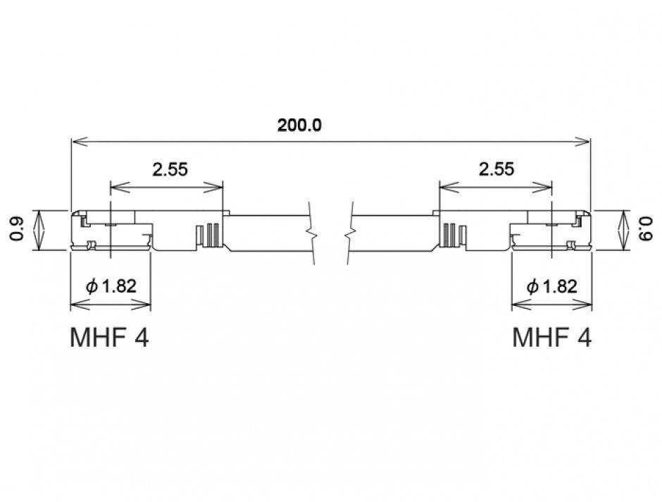 Imagine Cablu antena MHF IV/HSC MXHP32 plug la MHF IV/HSC MXHP32 plug 20cm 1.13, Delock 89643