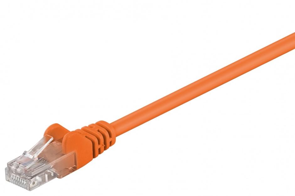 Imagine Cablu de retea UTP cat 5e 7.5m Orange, Goobay W95245