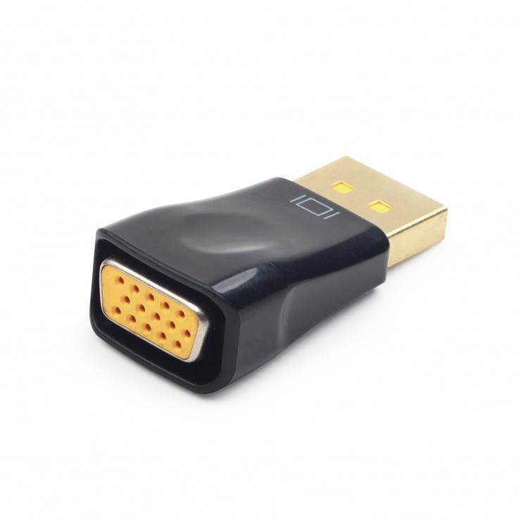 Imagine Adaptor Displayport la VGA T-M, Gembird A-DPM-VGAF-01