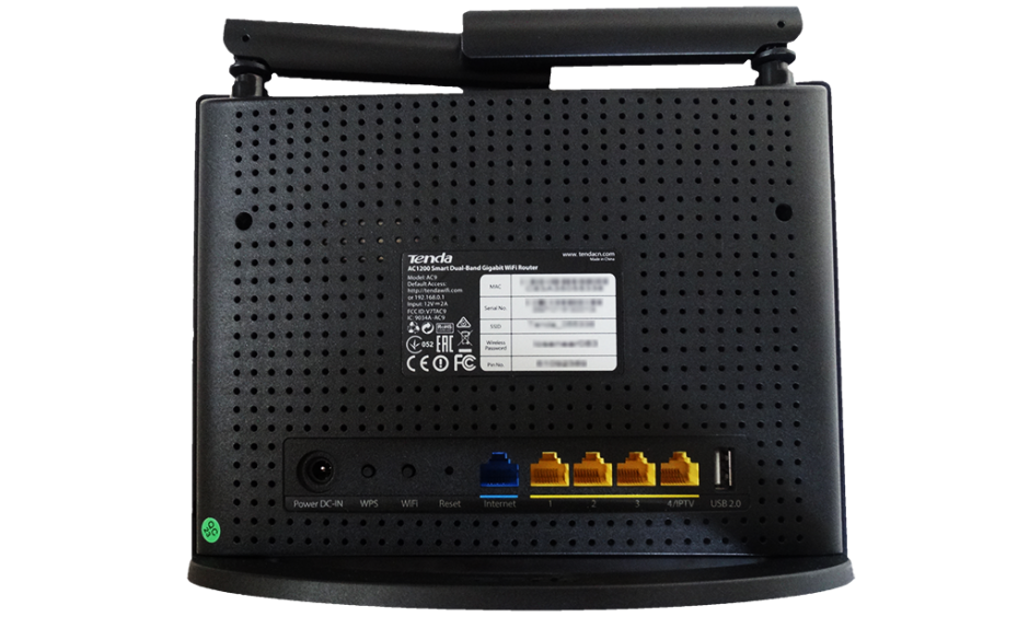 Imagine Router wireless 4 porturi AC 1200Mbps Smart dual-band, Tenda AC9