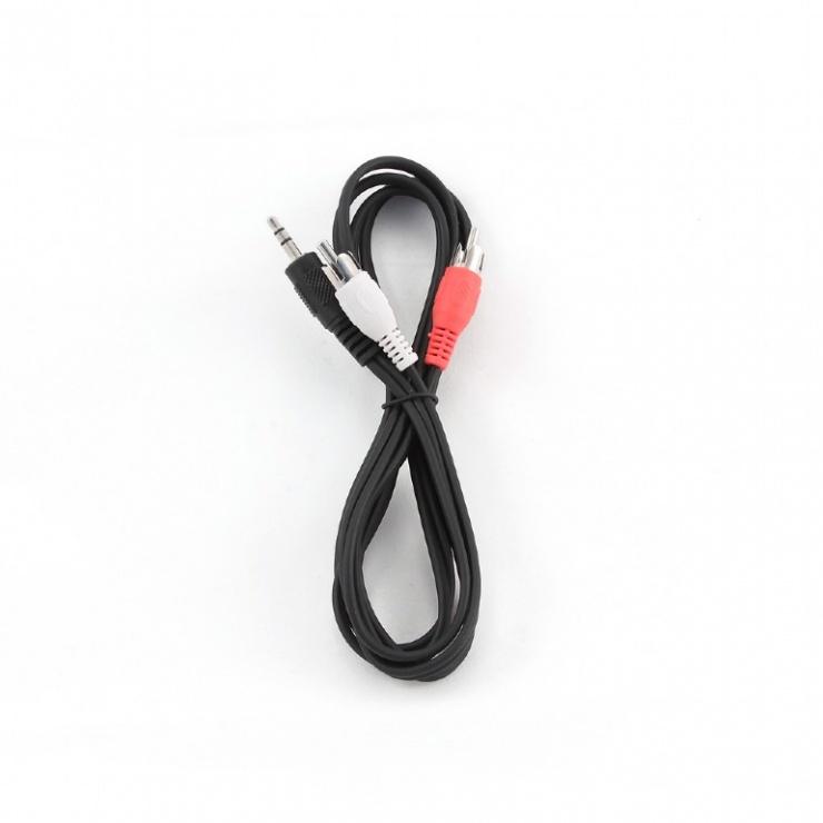 Imagine Cablu audio stereo Jack 3.5mm la 2 x RCA T-T 1.5m, Gembird CCA-458-1