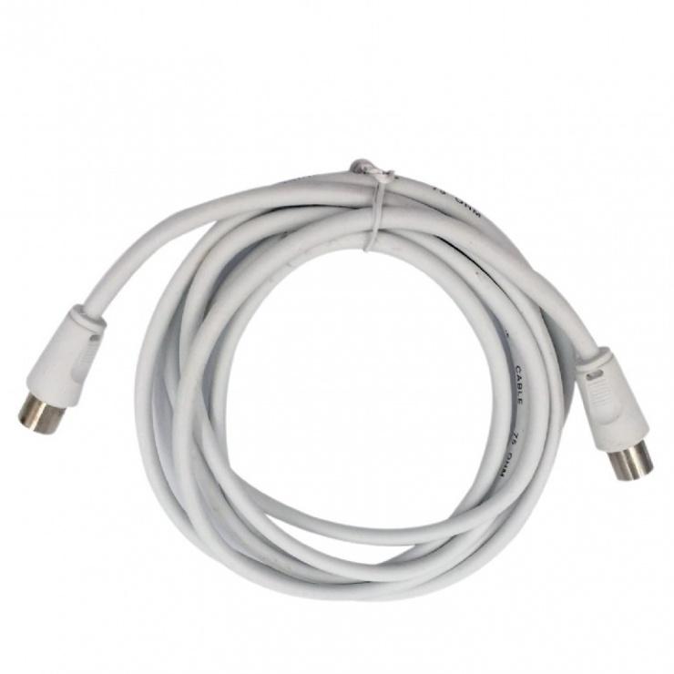 Imagine Cablu prelungitor antena coaxial T-M 5m alb, Gembird CCV-515-W-5M-1