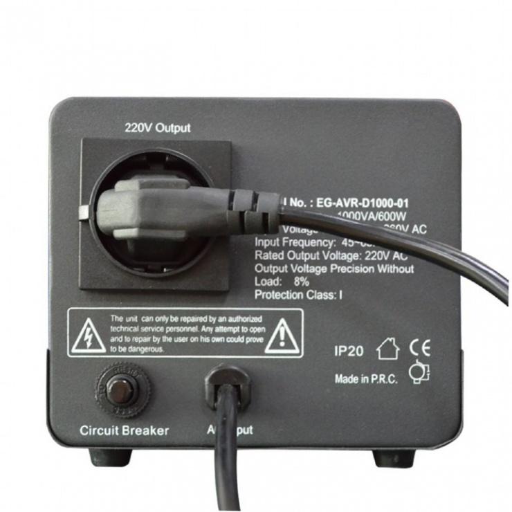 Imagine AVR 1000VA 1 x Schuko socket, GEMBIRD EG-AVR-D1000-01