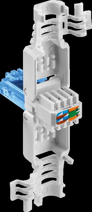 Imagine Conector de ansamblat RJ45 cat. 6A UTP pentru fir solid, Goobay 59227
