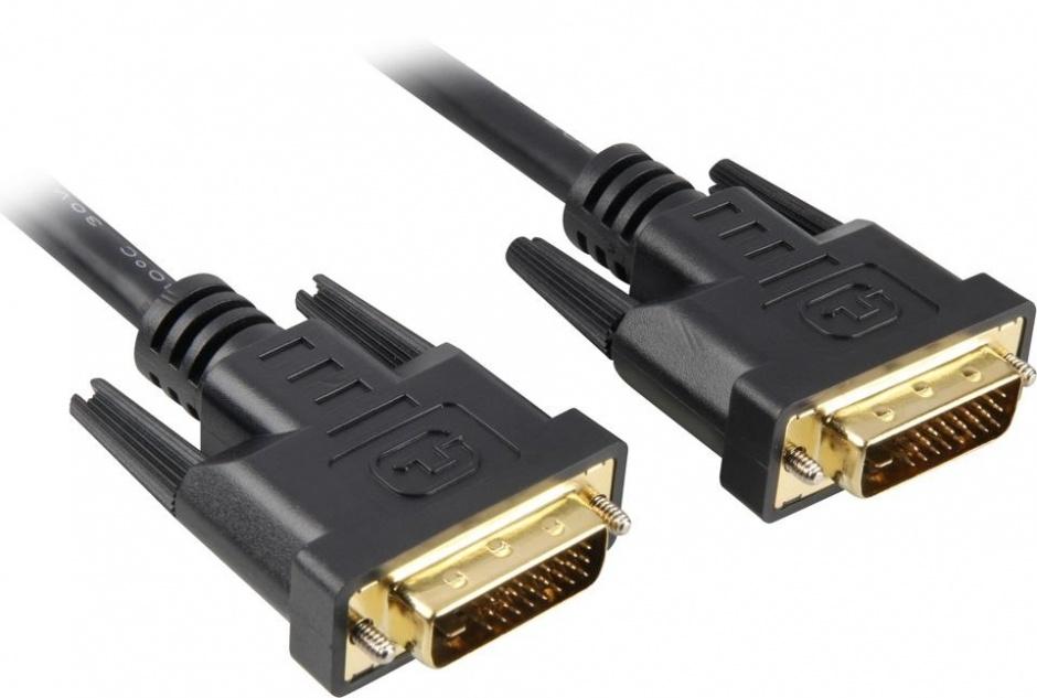 Imagine Cablu DVI-D Dual Link 24+1 pini T-T 0.5m Negru