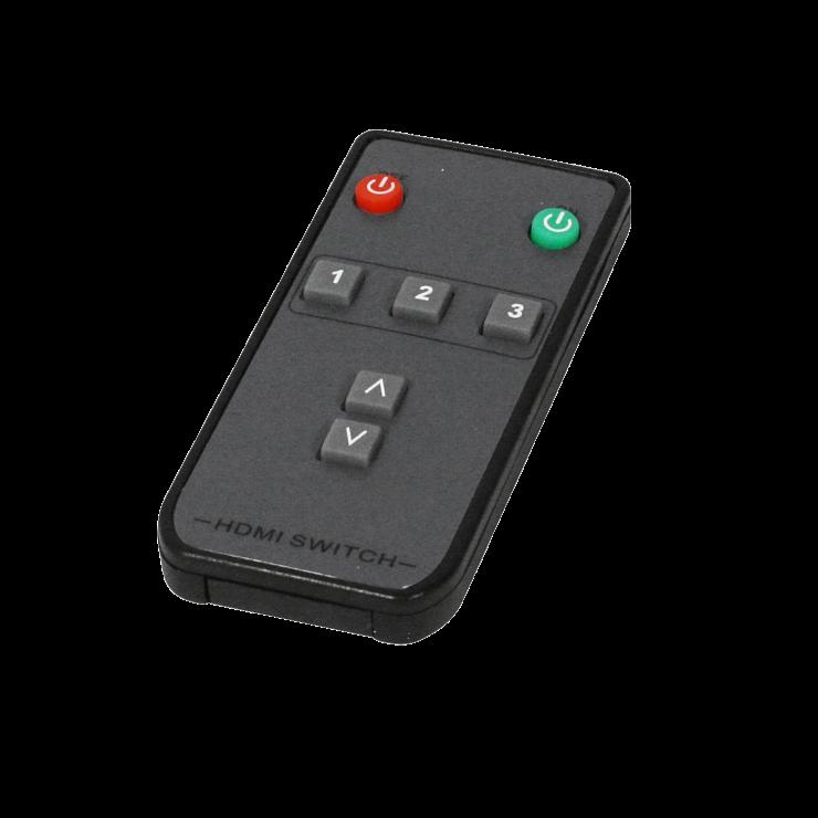 Imagine Switch HDMI 2.0 18G 3 porturi cu telecomanda, Lindy L38243-3