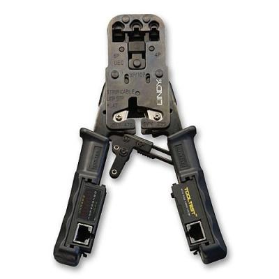 Imagine Cleste de sertizare profesional + tester 4 in 1, Lindy L43206