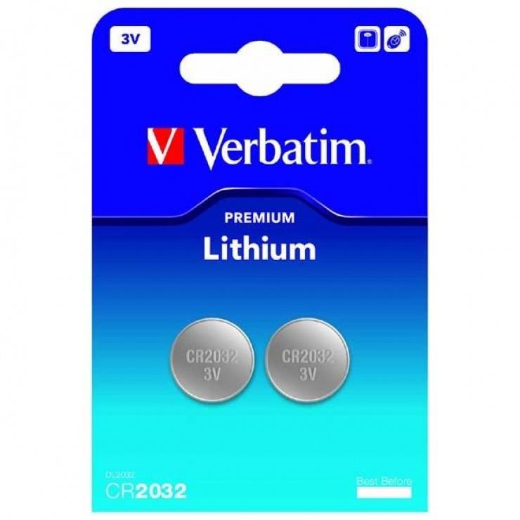 Imagine Set 2 x baterie CR2032 3V LITHIUM, Verbatim