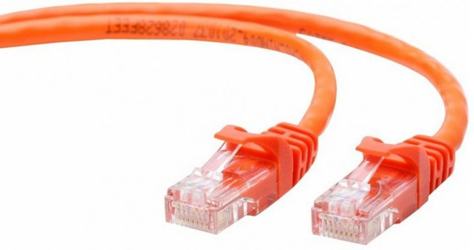 Imagine Cablu retea UTP cat5e 1m orange, Gembird PP12-1M/O