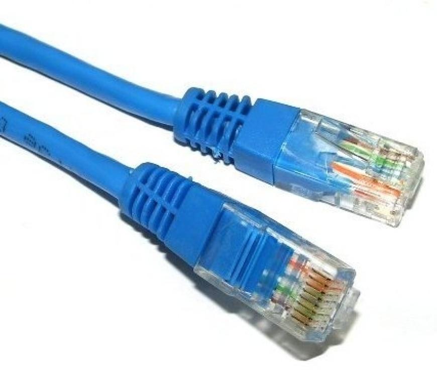 Imagine Cablu de retea UTP cat 5e 3m Albastru, Spacer SP-PT-CAT5-3M-BL