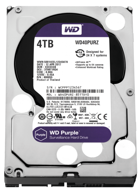 "Imagine HDD 4TB PURPLE 64MB S-ATA3 ""4PURZ"" WD SURVEILLANCE"