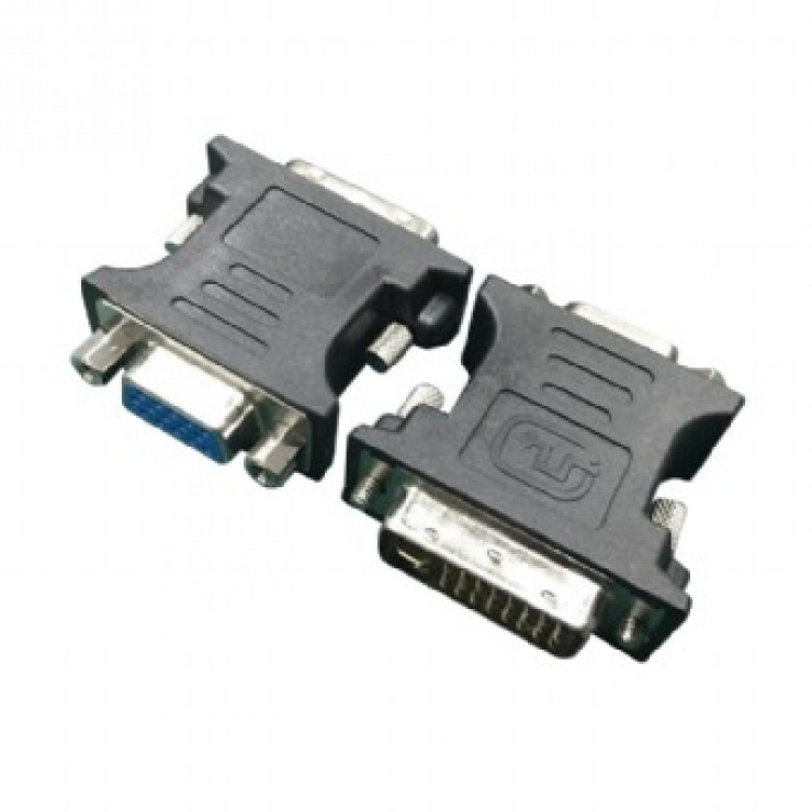 Imagine Adaptor DVI-I Dual Link 24+5 pini la VGA T-M Negru, Gembird A-DVI-VGA-BK