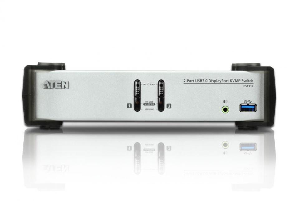 Imagine Switch KVMP 2 porturi DisplayPort USB 3.0, ATEN CS1912