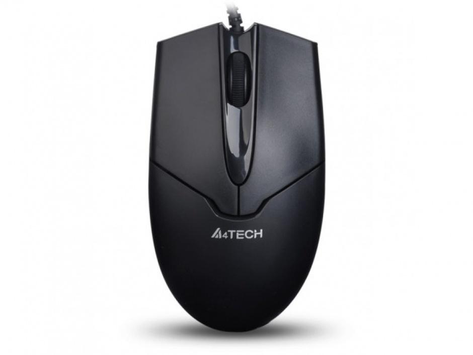 Imagine Mouse cu fir USB V-track Padless Negru, A4TECH N-301